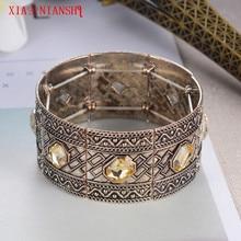 XIAONIANSHI Newest Turkish style bracelet size adjustable crystal hollow cuff bracelet european men and women jewelry accessory