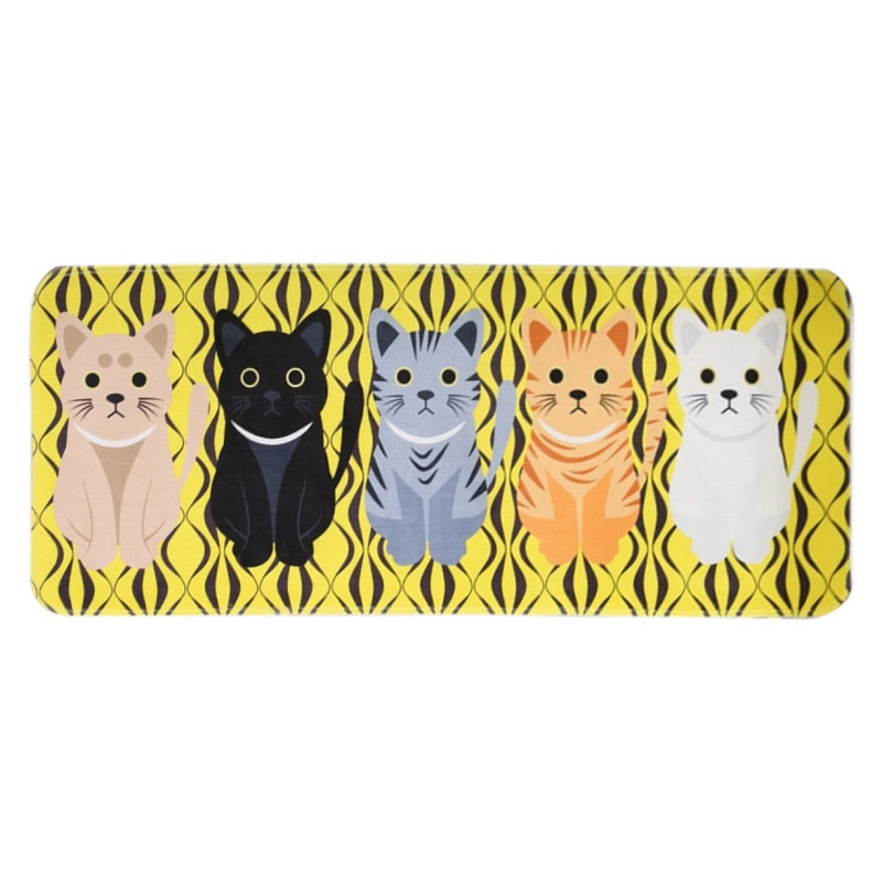 Mats Cartoon Animal Cat Printed Bathroom Kitchen Absorbent Carpets Modern Simplicity Comfortable Skin-friendly 2017 new
