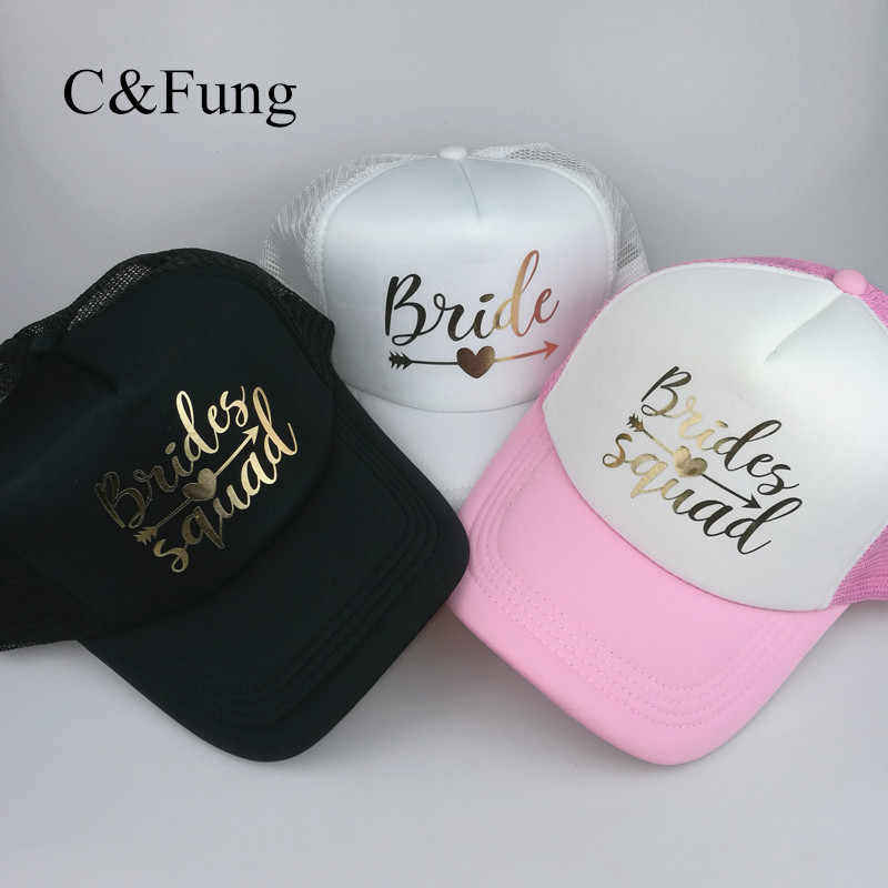 1312c40c8d9 Detail Feedback Questions about C Fung designer BRIDE SQUAD Hat Squad with  arrow trucker hats Bachelorette Hen Party Hat caps Team Bride Bridesmaid  Gift on ...