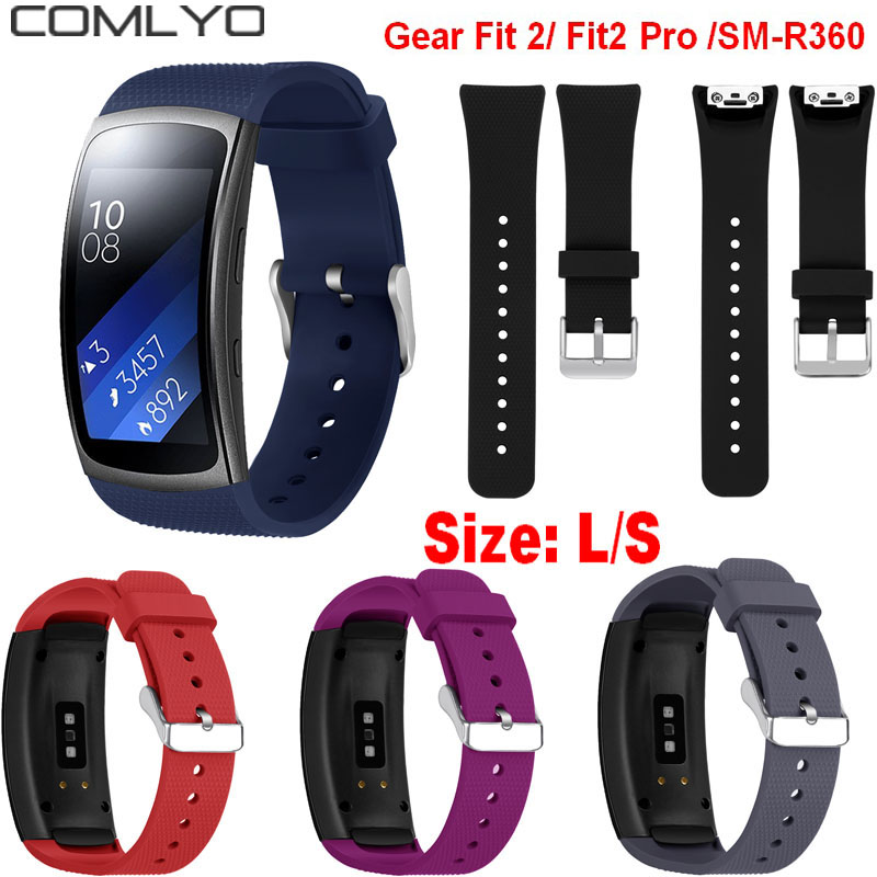 L/S Replacement Wristband For Samsung Gear Fit 2 Pro Band Luxury Silicone Watchband For Samsung Fit 2 SM-R360 Strap Drop Ship