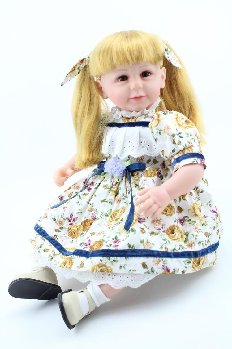 ФОТО 20inches lifelike reborn baby girl dolls soft silicone vinyl real touch  newborn baby bonecas birthday gift for children