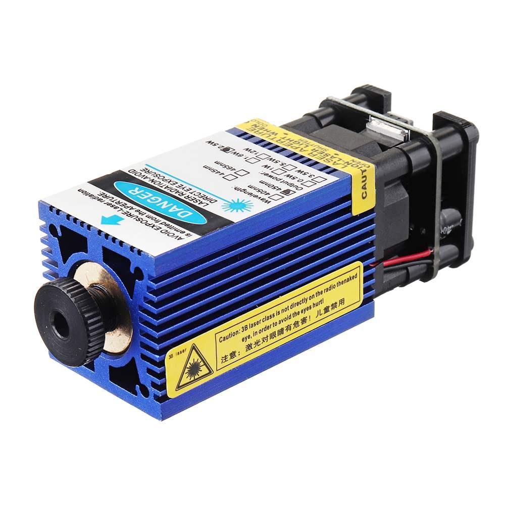 2500mW Blue Laser Module 3-Pin DIY Laser Engraving Module Fits 3018 CNC Router