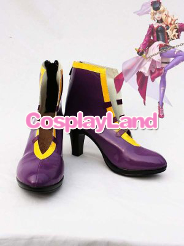 Customize Boots Macorss Frontier Cosplay Sheryl Nome Purple Coplay Shoes Cosplay Costume Anime Party Shoes
