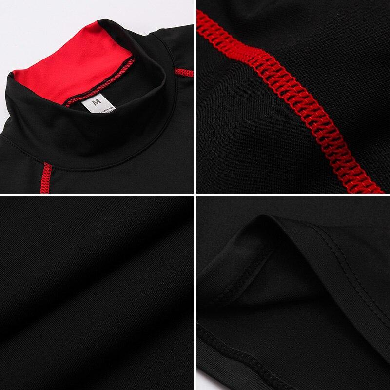 2019 Hot Vegas Golden Knights Turtleneck Gym Shirt Long Sleeve Fitness Running Shirt Sportswear Workout Rashgard Sport Shirt Men