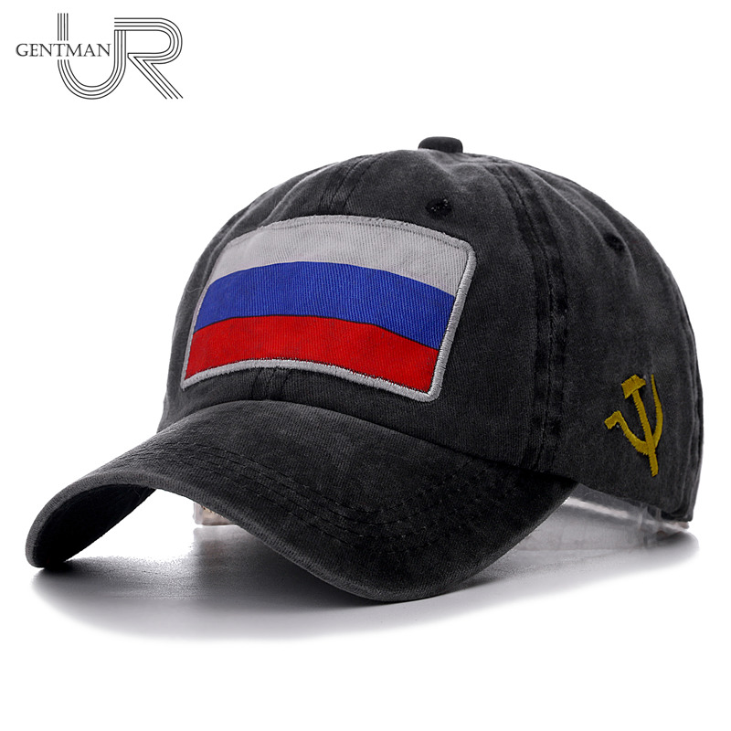 2019 New Spring Summer Baseball Cap Russian Flag Cap High Quality Washed Cotton Snapback Hat Cheap CCCP Fitted Cap For Men Women