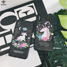 Cute Cartoon Case For iphone 7 case for X Cover 6s soft silicone Phone 6 Plus 8 capa