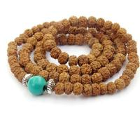 8mm Rudraksha Bodhi Seed Tibet Buddhist 108 Prayer Beads Mala necklace bracelet