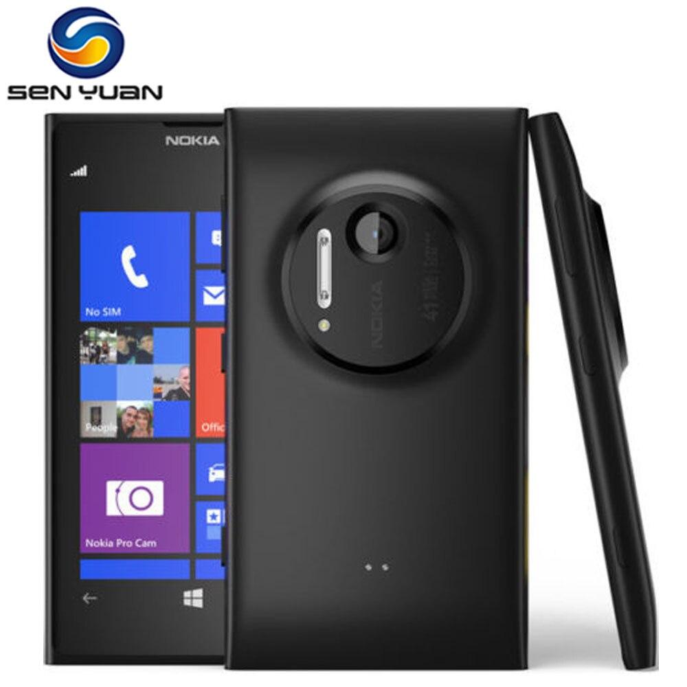 """bilder für Lumia 1020 Ursprünglicher Freigesetzter Nokia Lumia 1020 41MP 4,5 """"kapazitiven touchscreen GPS GSM frontkamera Entsperrt handy"""