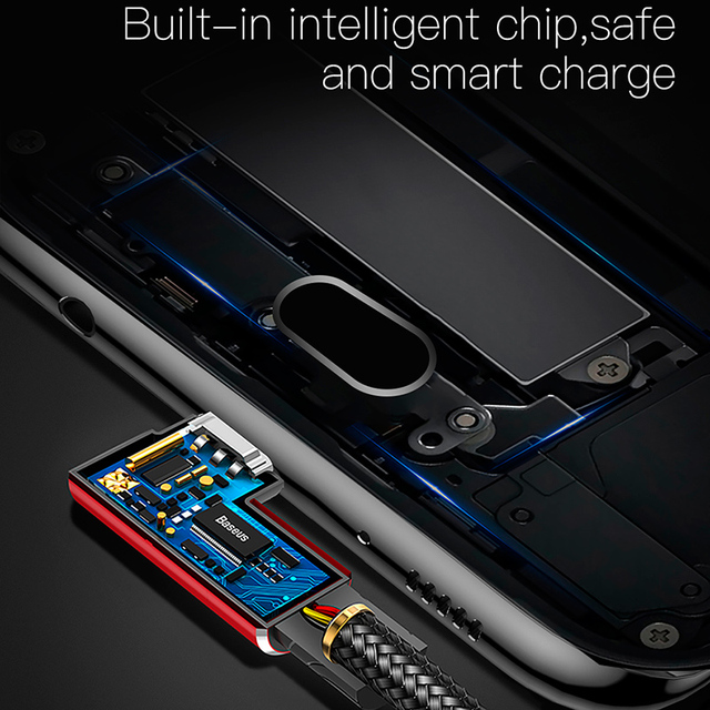 Câble USB de Type C Baseus cordon chargeur USB C à 90 degrés câble de Charge rapide USBC type-c pour Samsung Oneplus 7 Pro USB-C de téléphone portable
