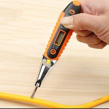 Digital Test Pencil Multifunction AC DC 12-250V Tester Electrical LCD Display Voltage Detector Test Pen for Electrician
