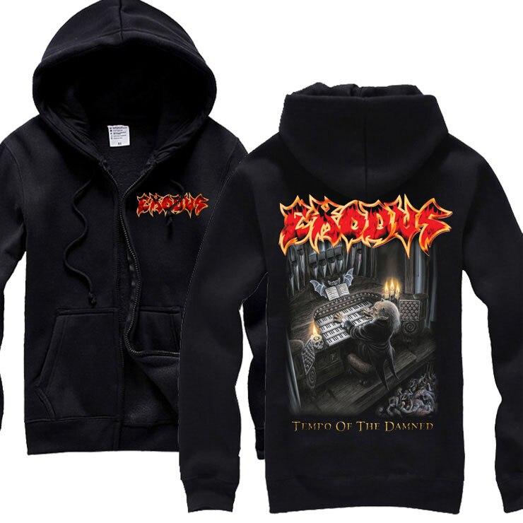15 видов ужасный Exodus sudadera рок хлопок толстовки оболочка куртка панк рокерский спортивный костюм тяжелая металлическая брэндовая одежда, спортивные футболки - Цвет: 4