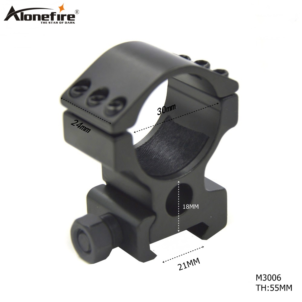 AloneFire M3006 Tactical Scope Mount 30mm Ring 21mm Picatinny Weaver Rail Mount For Rifle Scope Hunting Mount