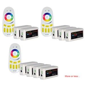 Image 4 - RGBW 12V HA CONDOTTO LA Striscia 5050 Impermeabile IP20/IP65 Flessibile ha condotto la Luce del Nastro + Mi Luce RF di Tocco di Telecomando + 4pcs 4 di Controllo di Zona