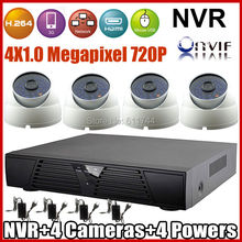 ONVIF 2.zero Video surveillance Safety CCTV Digicam System 720P Out of doors/Indoor  Vandal-proof IP Digicam and 4ch H.264 NVR KIT P2P