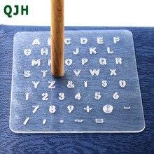 Juego de sellos de números de alfabeto de impresión de plástico para herramientas de cuero herramientas profesionales de perforación de cuero