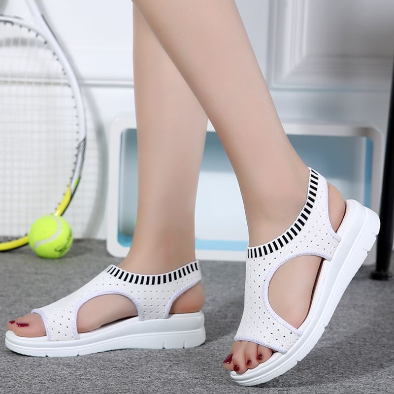 2018 Señoras Sandalias de Verano Planas Salvaje Transpirable Cómodo - Zapatos de mujer - foto 4