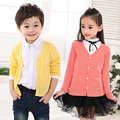 Hot children Spring Clothing Outerwear Causal Cotton Open Stitch Knitted warm kids Sweater boys &girls cardigan protect-sun coat