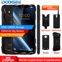 Original DOOGEE S90 Octa core Android 8.1 IP68/IP69K Modular Smartphone NFC 6.18 FHD+ 6GB 128GB 16MP 5500mAh 4G Mobile Phone