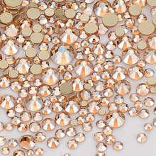 Strass à dos plat effet Champagne, mélange de tailles, pour Nail art et artisanat