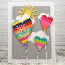 YaMinSanNiO Hearts Balloons Metal Cutting Dies Love Dies Craft Card Embossing Stencil Scrapbooking 2019