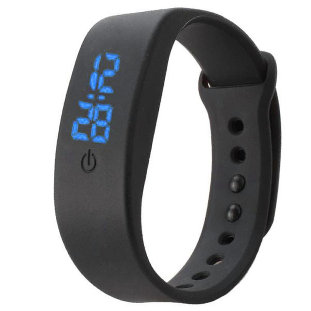 New Fashion Womens Mens Watches Rubber LED Watch Date Sports Bracelet Digital Wr