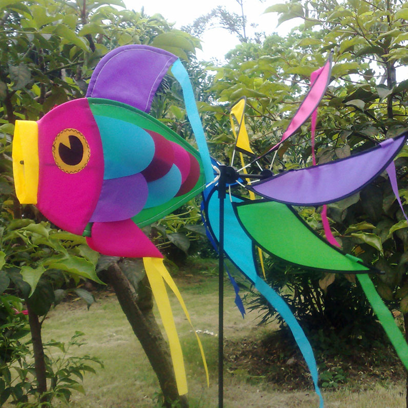Rainbow Fish Wind Spinner Kids Toys Windmill With Colorful Tails Garden Art  Yard Decoration Children Gift In Kites U0026 Accessories From Toys U0026 Hobbies On  ...