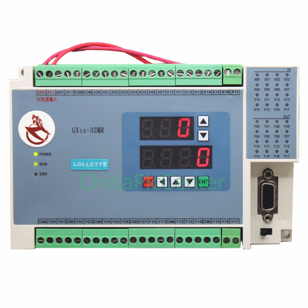 FX1S GX1S 32MR digital display 16 input 16 relays output  controller Analog quantity 4AD 2DA Analog plc RTC (real time clock) dmx512 digital display 24ch dmx address controller dc5v 24v each ch max 3a 8 groups rgb controller