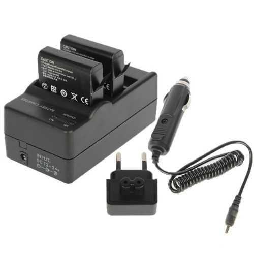PULUZ для спортивной экшн-камеры Go Pro Аксессуары цифровой Камера двойной Батарея Зарядное устройство + Автомобильное Зарядное устройство + Адаптер для GoPro Hero 4 HERO4 аккумуляторная батарея