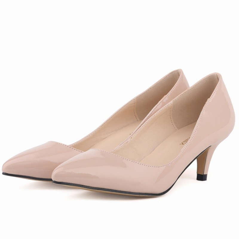 New Loslandifen brand women pumps low heels shoes woman ladies party wedding dress pointed toe slip on shoes size 35-42 6cm high sexy pointed toe high heels women pumps shoes new spring brand design ladies wedding shoes summer dress pumps size 35 42 302 1pa
