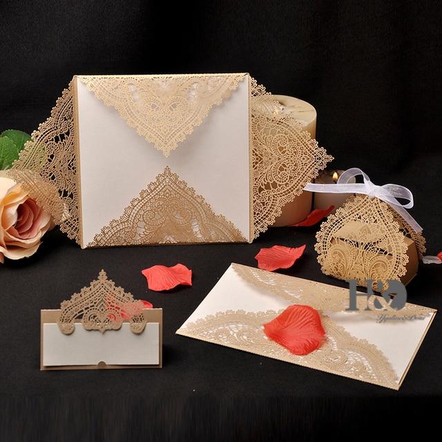 60 PClot Couronne Laser Invitation De Mariage De Partie Table Nom Cool Stil Des Invitation De Mariage