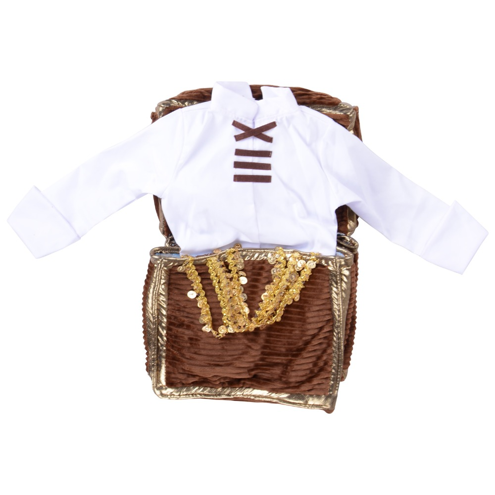 Treasure Chest Costume White Shirt Pirate in Jewelry Box Funny Fancy Dress Medieval Costume Available in Kids Adult Size