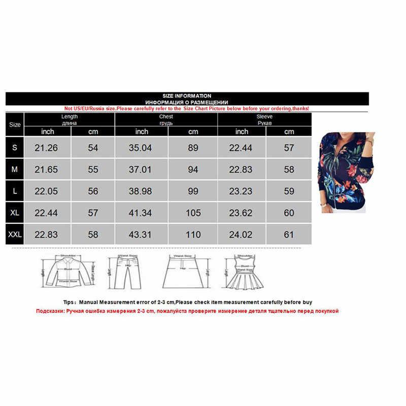 Vrouwen Zwarte Retro Bloemenprint Jasje 2020 Casual Lange Mouwen Rits Bomber Jacket Lady Dunne Slanke Bomberjack