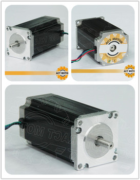 ACT Motor 3PCS Nema23 Stepper Motor 23HS2430 Single Shaft 4-Lead 425oz-in 112mm 3.0A Bipolar 8mm-Diameter Milling Machine Cut image