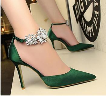 Ankle Strap Rhinestone Sandals