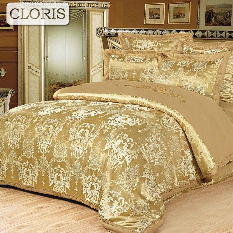 CLORIS Fast Sent Fashion Designer Cotton Bed Sheet Jacquard Bedding Multicolored Modern Comfortable Bedding Set With Pillowcases