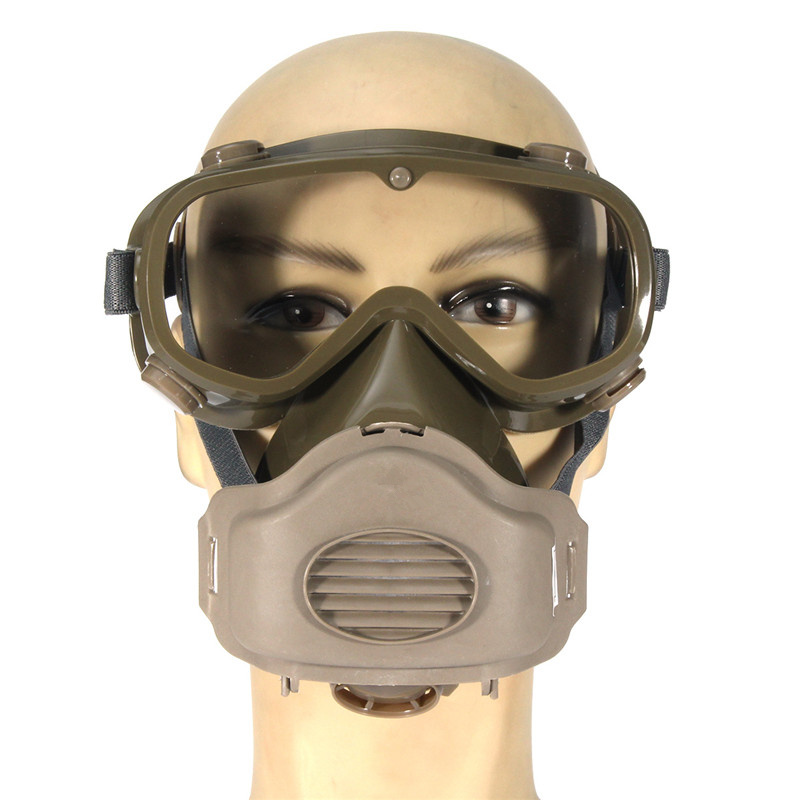 NEW Dust Mask Respirator Half Facepiece Paint Breathing Gas Protection Glasses Workplace Safety Masks Filter new respirator gas mask safety chemical anti dust filter military eye goggle set workplace safety protection