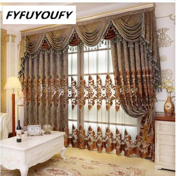 European Valance European Royal Luxury Valance Curtains Window Curtains For Bedroom Custom Made Curtain Drapes 1 Piece Leather Bag