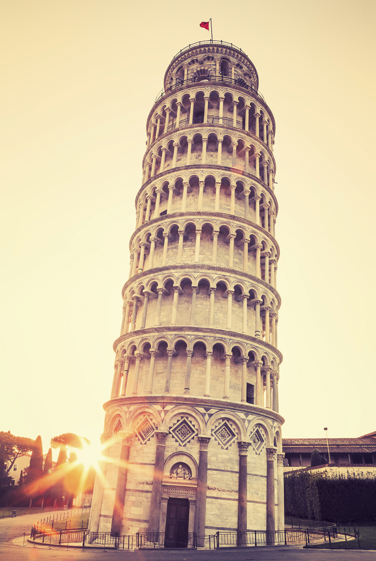 Leaning Tower of Pisa The wooden puzzle 1000 pieces ersion jigsaw puzzle white card adult children's educational toys