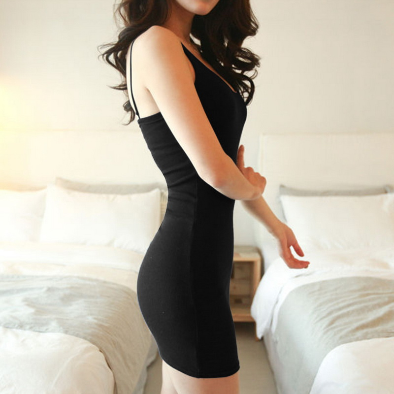 Laamei 5XL Women Sexy Dress Plus Size Basic Summer Dress Casual Soild Sleeveless Strap Slim Bodycon Tanks Bandage Dresses Female