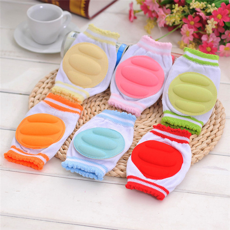 1 Pair Baby Knee Protection Pads Cotton Leggings Warmers Safety Crawling Elbow Cushion Baby Crawling Pad For Children Boys Girls