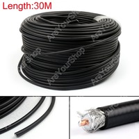 Sale 3000cm RG8 KSR400 RF Coaxial Cable Connector Coax Shielded Pigtail 98ft High Quality Plug Jack