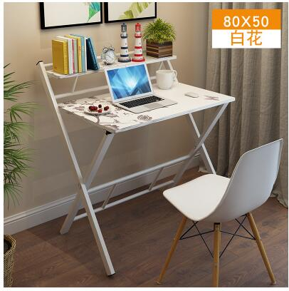 Folding simple home desktop notebook office computer learning student desk simple writing desk. desktop home economy modern computer simple desk