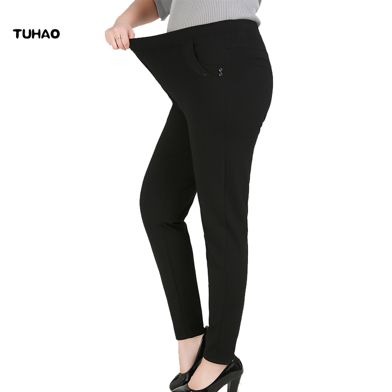 TUHAO 2018 Office Lady Jeans Woman Female Jeans Plus Size 9XL 8XL 7XL Waist HIPS Women Pants Trousers Big Size for 140KG YHFS