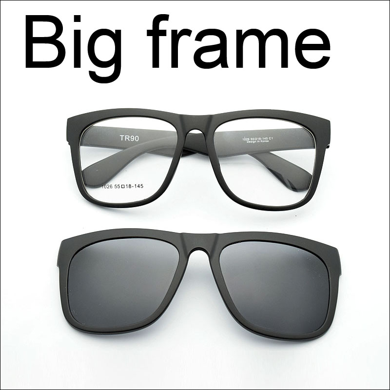 a76b9d2cea Best buy Big box eyeglasses frame full frame glasses frame large magnet  clip sunglasses myopia glasses polarized sunglasses online cheap