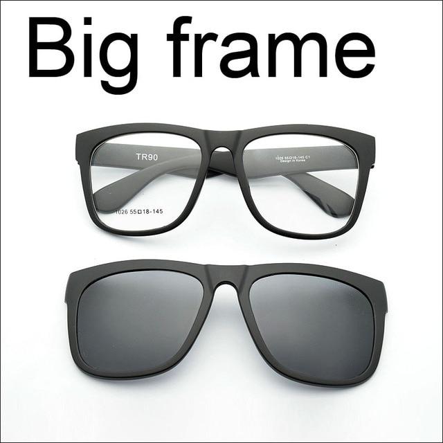 big frame eyeglasses frame full frame glasses myopia frame wide face magnet clip sunglasses myopia glasses - Wide Frame Glasses