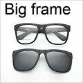 Grandes óculos de Armação óculos Quadro Full Frame Óculos de Armação Grande Ímã Rosto óculos de Sol Clipe Miopia Óculos Polarizados óculos de Sol