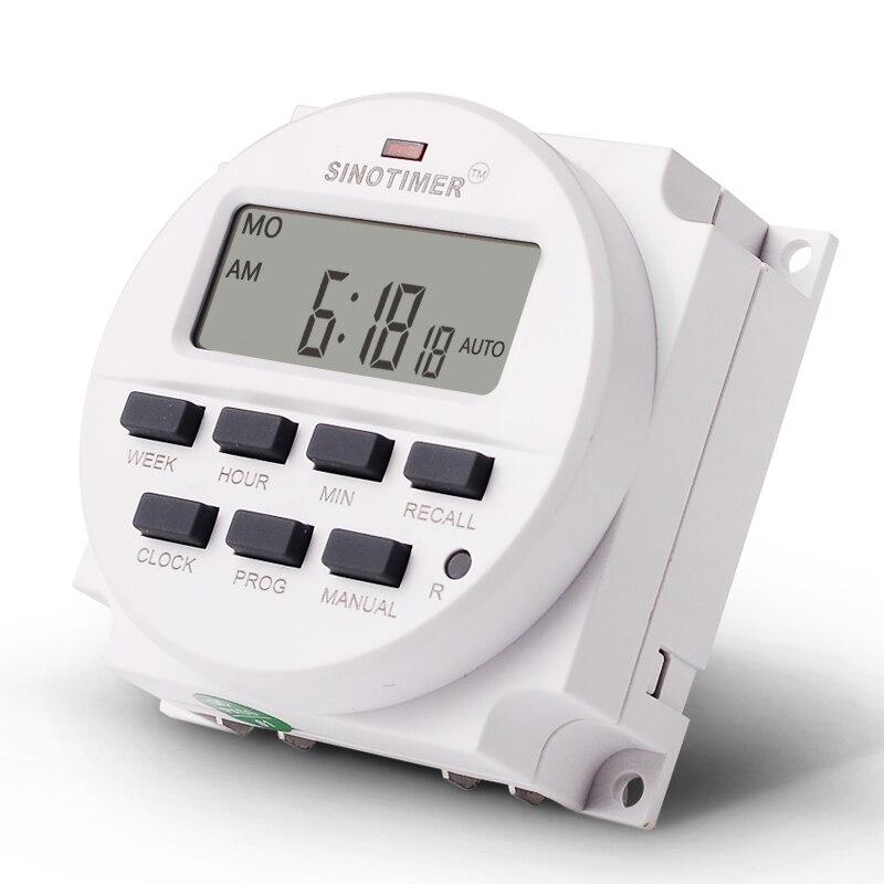 12/24 Formato 12 V DC Timer Switch 7 giorni 24 ore programmabile - Strumenti di misura - Fotografia 3