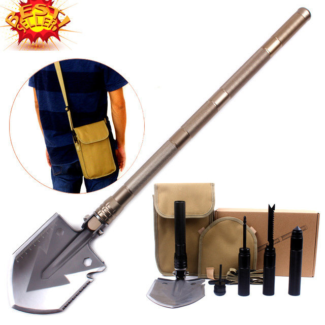 2016 Hot selling Professional Military Tactical Multifunction Shovel Outdoor font b Camping b font Survival Folding