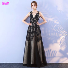 Фотография Junoesque Black Plus Size Formal Evening Dress 2017 Sexy Party Long Prom Dresses Sweetheart Tulle Lace Appliques Evening Gowns