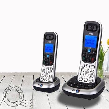 Teléfono inalámbrico creativo con intercomunicador, LCD retroiluminado, fijo, teléfono fijo, oficina, hogar, negocios, Plata